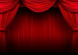Red Stage Curtain by Master isolated images
