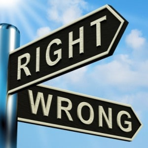 Right Or Wrong Directions