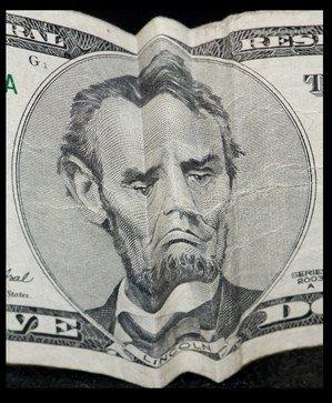 Stoic Abe Five Dollar Bill