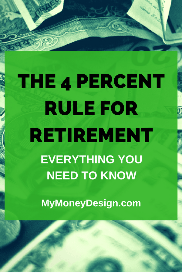 The 4 Percent Rule has arguably become one of the best known and somewhat controversial strategies in retirement planning when it comes to safe withdrawal rates. Here's everything you've ever wanted to know about the 4 Percent Rule and how it can help you to retire safely. Enjoy! MyMoneyDesign.com