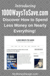 Introducing My New Site: 1,000 Ways to Save