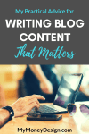 My Practical Advice for Writing Blog Content That Matters