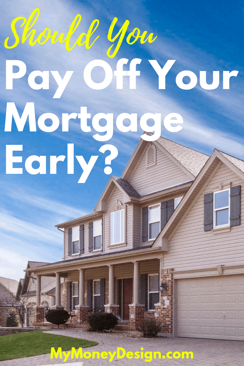Should you pay off your mortgage early or do something better with your money? While eliminating your biggest debts is often thought to be a pre-requirement to financial freedom, given our low interest rates over the past decade, there might be better opportunities for you to do more with your money.  Let's explore the pros and cons #MyMoneyDesign #FinancialFreedom #PayOffMortgageEarly #MortgagePayoffTips