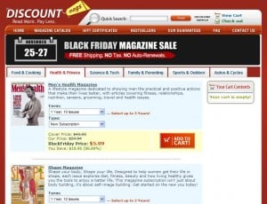 Mama Cheaps, Discount Mags, magazine subscriptions, Black Friday