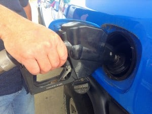 Filling up at the gas pump