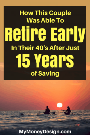 """Think you need to make a lot of money or save for 30 years to retire? In the book """"How to Retire Early"""" by Robert and Robin Charlton, you'll learn how this couple was able to retire with $1 million dollars after just 15 years of saving by the tender age 43! Find out more at MyMoneyDesign.com"""