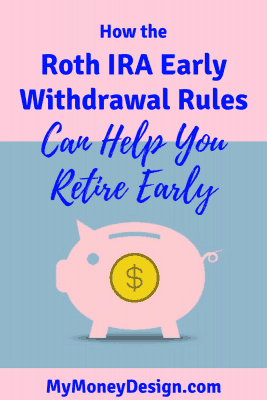 If you're an early retirement seeker like me, then here's some good news: The Roth IRA Early Withdrawal Rules make it really easy to get your money out before age 59-1/2 without penalty. But there are some things you need to know to be safe. Read more to find out more. - MyMoneyDesign.com