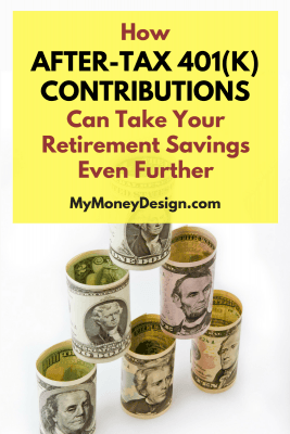 If you're already contributing the IRS maximum amount to your 401(k) and would like to keep reaping the tax benefits, then I have good news for you: After-tax 401(k) contributions may be your ticket to the next level! Though most people think the max stops at $18,500, you may be able to keep going until $55,000. Here's what you need to know - Read more at MyMoneyDesign.com